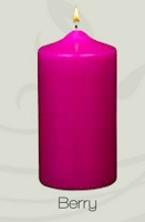 Unscented  Berry Red Pillar Candle (12pcs)