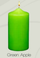 Unscented Green Apple Pillar Candles (12pcs)