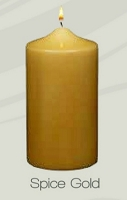 Unscented Spice Gold Pillar Candle (12pcs)
