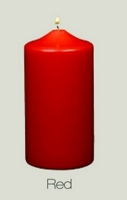 Unscented  Red Pillar Candles (12pcs)