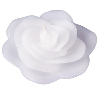 White Rose Floating Candles (12pcs)