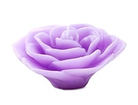 3 Inch  Lavender Rose Floating Candles (12pcs)