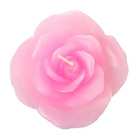 3 Inch Pink Rose Floating Candles (12pcs)