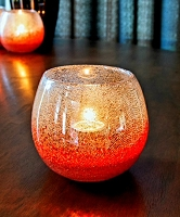 Hope  Bubble Glass Votive