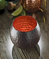 Cauldron  Hammered Copper Votive Holder