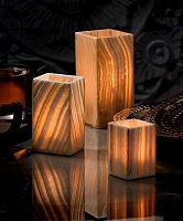 Luxor Alabaster Tealight Holder