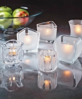 Unique Crystal & Satin Glass Tealight Holder