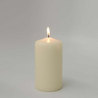 Unscented Ivory  Pillar Candles (12pcs)