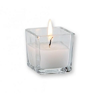 2 Inch Square White Votive (75pcs/cs)