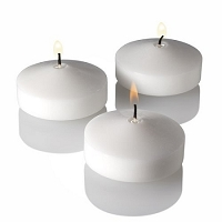 3 Inch White  floating candles (24pcs)