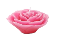 3inch Fuchsia Floating Rose Candles (12pcs)