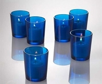 Blue Cylinder Votive Holder