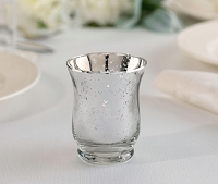 Silver Mercury Tulip Glass Votive or Tea light Holders (6pcs)