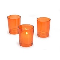 Orange Cylinder Votive Holder