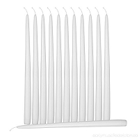 10 Inch White Taper candles ( 144pcs/cs)