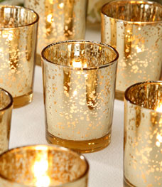 Gold votive holder (12pcs)