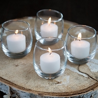 Roly Poly Glass And Candle (24 pcs)