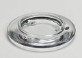 Wide Rim Clear Glass Candle Plate