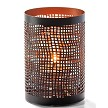 Chantilly Black and Copper Perforated Metal Votive