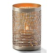 Chantilly Pewter and Gold Perforated Metal Votive