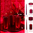 red metallic candle collection