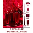 unscented Pomegranate  metallic candle collection